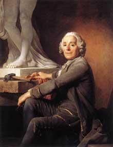 Joseph Siffred Duplessis (1725-1802) : portrait du sculpteur Christophe Gabriel Allegrain. 1774. Paris, Musée du Louvr