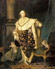 Joseph Siffred Duplessis (1725-1802): LouisXVI en costume de sacre. 1775. Paris, Musée du Louvr