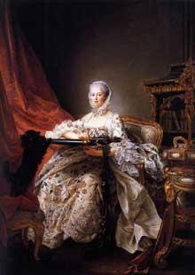 François Hubert Drouais (1727-1775 : madame de Pompadour. 1763-1764. Huile sur toile, 217 x 157 cm. Londres, National Gallery