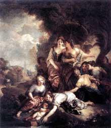 Charles de La Fosse (1636-1716): Moïse sauvé des eaux. Huile sur toile. Paris, Musée du Louvre