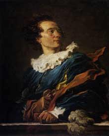 Jean Honoré Fragonard (1732-1806): portrait de l'Abbé de Saint-Non. 1769. huile sur toile, 80 x 65 cm. Paris, Musée du Louvre
