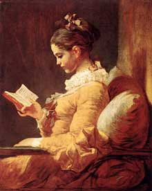 Jean Honoré Fragonard (1732-1806): jeune fille lisant.Vers 1776. Huile sur toile, 82 x 65 cm; Washington, National Gallery of Art