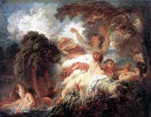 Jean Honoré Fragonard (1732-1806): les baigneuses. 1772-1775. Huile sur toile, 64 x 80 cm. Paris, Musée du Louvre