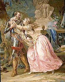 Les Gobelins: HenriIV. Atelier d'Audran sur carton de Verdier. Musée de Pau