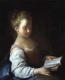 Alexis Grimou (1678-1733): liseuse. Toulouse, musée des Augustins
