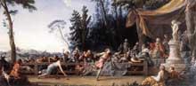 Noël Hallé (1711-1781): la course d'Hippomène et d'Atalante. 1762-1765. Huile sur toile, 321 x 712 cm. Paris, Musée du Louvre