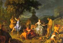 Michel-Ange Houasse (1680-1730): bacchanale. 1719. Huile sur toile. Madrid, Musée du Prado