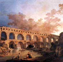 Hubert Robert (1733-1808): le Pont du Gard. 1787. huile sur toile, 242 x 242 cm. Paris, Musée du Louvre