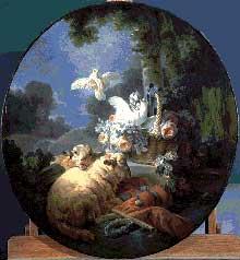 Christophe Huet (1700-1759): scène champêtre
