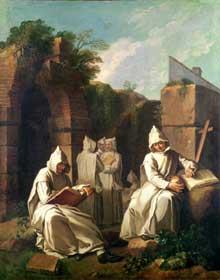 Étienne Jeaurat (1699-1768): moines chartreux en méditation. Eglise de saint Bernard la Chapelle. Paris.