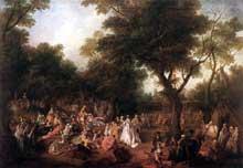 Nicolas Lancret (1690-1743): Fête dans les bois de Londres. 1720-1725. Huile sur toile, 64 x 91 cm. Londres, Wallace collection