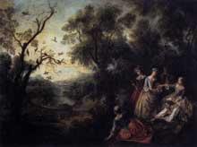 Nicolas Lancret (1690-1743): le printemps. 1738. Huile sur toile, 69 x 68 cm. Paris, musée du Louvre