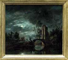 Simon Mathurin Lantara (1729-1778): paysage au clair de lune. Paris, musée du Louvre
