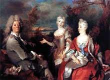 Nicolas de Largillière (1656-1746): l'artiste et sa famille. 1710. Huile sur toile, 149 x 200 cm. Paris, Musée du Louvre