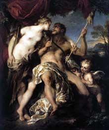 François Lemoine (1688-1737): Hercule et Omphale. Paris, Musée du Louvre