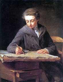 Nicolas Bernard Lepicié (1735-1784): le peintre Carle Vernet à l'age de 14ans. 1772. Paris, Musée du Louvre