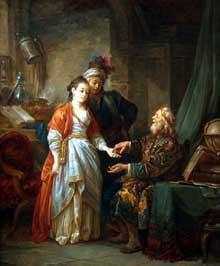 Jean Baptiste Le Prince (1734-1781): le diseur de bonne aventure. Londres, national Gallery