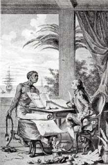 Jean Michel Moreau le Jeune (1741-1814): Frontispice du «Voyage à l'Isle de France» de Bernardin de Saint Pierre
