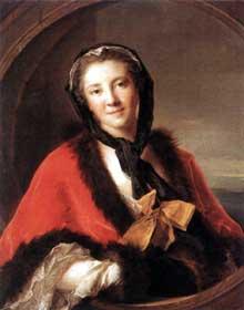 Jean Marc Nattier (1685-1766) : La comtesse Tessin. 1741. Huile sur toile, 81 x 65 cm. Paris, Musée du Louvre