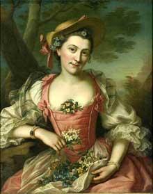 Donatien Nonotte (1708-1785) : portrait de femme. Musée de Besançon