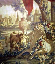 Jean Baptiste. Oudry (1685-1755): Io. Carton d'une tapisserie de Beauvais.1755. Château de Villemonteix