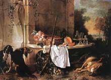 Jean Baptiste. Oudry (1685-1755): loup mort. 1721. Huile sur toile, 193 x 260 cm. Londres, Wallace Collection