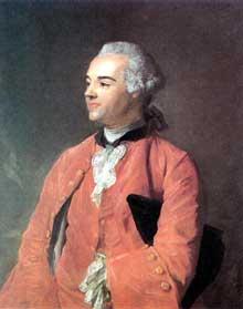 Jean Baptiste Perronneau (1715-1783) : portrait de Jacques Cazotte. Londres, British Museum