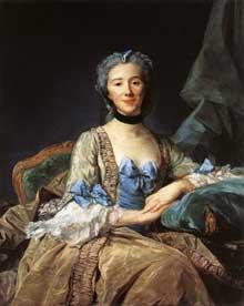 Jean Baptiste Perronneau (1715-1783) : madame de Sorquainville. Paris, musée du Louvre.