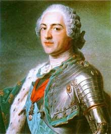 Maurice-Quentin La Tour (1704-1788); le roi LouisXV. Pastel