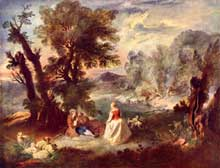 Pierre Antoine Quillard (1701-1733): pastorale. Moscou, musée Pouchkine