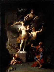 Jean Raoux (1677-1734):Pygmalion amoureux de sa statue. Montpellier, Musée Fabre