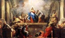 Jean RestoutII (1692-1768): la Pentecôte. 1732. Huile sur toile, 465 x 778 cm. Paris, Musée du Louvre