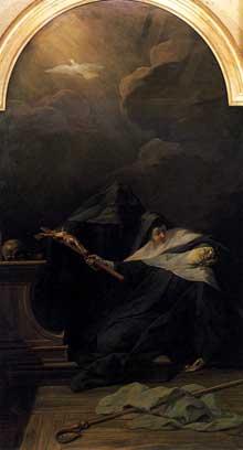 Jean RestoutII (1692-1768): la mort de sainte Scholastique. 1730. Huile sur toile. Tours, Musée des Beaux-arts