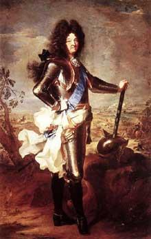 Hyacinthe Rigaud (1659-1734): portrait de LouisXIV. 1694. Huile sur toile, 277 x 194cm. Paris, Musée du Louvre