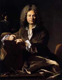 Hyacinthe Rigaud (1659-1734): Portrait de Pierre Drevet. 1700. Huile sur toile, 116 x 89 cm. Lyon, Musée des Beaux Arts