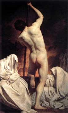 Pierre Subleyras (1699-1749): Charon convoyant les ombres. 1735-1740. Huile sur toile, 135 x 83 cm. Paris, Musée du Louvre.