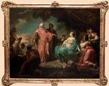 Gabriel de Saint Aubin (1724-1780): Laban cherche ses idoles. Paris, musée du Louvre