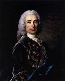 Louis Tocqué (1696-1772) : portrait du Marquis de Luckner. Musée d'Orléans