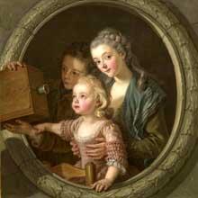 Charles Amédée Van Loo (1719-1795): la lanterne magique. New York, Metropolitan Museum