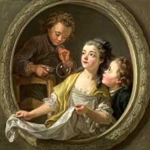 Charles Amédée Van Loo (1719-1795): les bulles de savon. New York, Metropolitan Museum