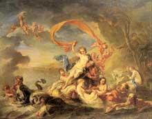 Jean Baptiste Van Loo (1684-1745): le triomphe de Galatée. Huile sur toile. Saint-Pétersbourg, musée de l'Ermitage.