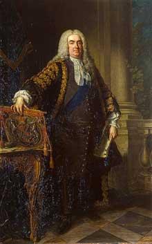 Jean Baptiste Van Loo (1684-1745): portrait de sir Robert Walpole. 1740. Huile sur toile. Saint-Pétersbourg, musée de l'Ermitage.