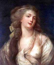 Antoine Vestier (1740-1824) : portrait de femme. Pastel. 1780. 58x49cm