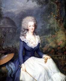 Antoine Vestier (1740-1824) : portrait de Marie Antoinette d'Autriche. Huile sur toile, 1778, Paris, coll. Particulière