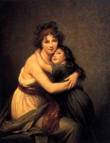 Elisabeth Vigée-Lebrun (1755-1842) : autoportrait avec sa fille Julie. Vers 1789. Huile sur toile, 130 x 94 cm. Paris, Musée du Louvre