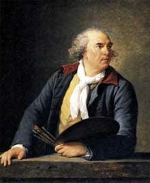 Elisabeth Vigée-Lebrun (1755-1842) : le peintre Hubert Robert. 1788. Huile sur bois, 105 x 84 cm. Paris, Musée du Louvre