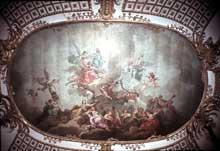 Charles Amédée Van Loo (1719-1795): accueil du grand Prince électeur dans l'Olympe. 1751. Voûte du château de Potsdam