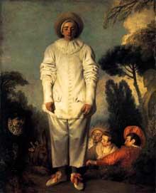 Antoine Watteau (1684-1721): Gilles. 1718-1720. Huile sur toile, 184,5 x 149,5 cm. Paris, Musée du Louvre