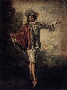 Antoine Watteau (1684-1721): L'Indifférent. 1717. Huile sur bois, 25 x 19 cm. Paris