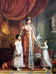 Jean Baptiste Wicar (1762-1834): Julia Bonaparte et ses enfants. Naples, Musée de Capodimonte